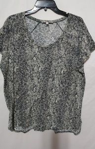 Sejour Dark Taupe Snakeskin Top 1X Plus